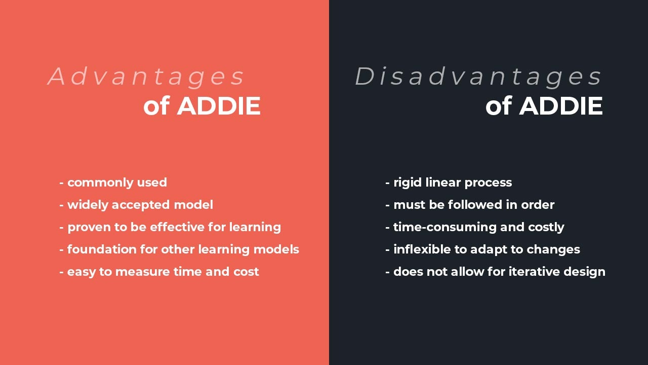 Advantages and Disadvantages of ADDIE